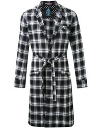 Guild Prime - Flannel Plaid Belted Coat - Lyst