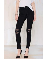 Nasty Gal Highspray Skinny Jeans - Lyst