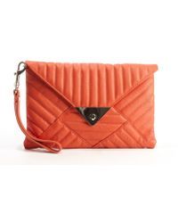 L.a.m.b. Orange Quilted Leather Carlyle Shoulder Bag - Lyst