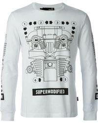 Love Moschino Longsleeved Printed T-Shirt - Lyst