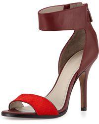 Pour La Victoire Yara Leather Ankle-wrap Pump - Lyst