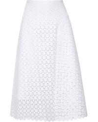 Erdem Mina Broderie Anglaise Cotton Skirt - Lyst