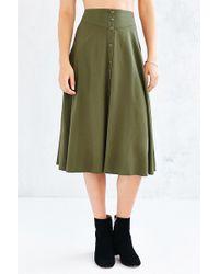 Ecote - Button-down Midi Skirt - Lyst