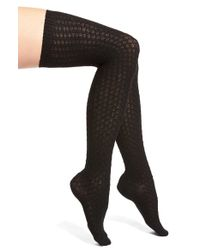 c1f7111e0c498 Vince Camuto - Textured Over The Knee Socks - Lyst
