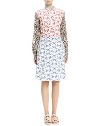 Stella McCartney Mix Print Henley Dress - Lyst