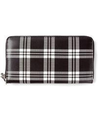 Alexander McQueen Black Checked Wallet - Lyst