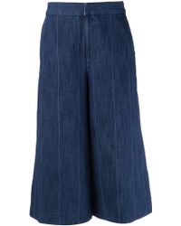 Adam Lippes Cropped Trousers - Lyst