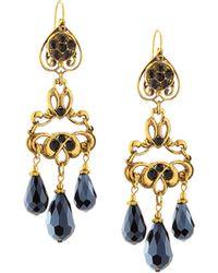Jose & Maria Barrera | Crystal Chandelier Drop Earrings | Lyst