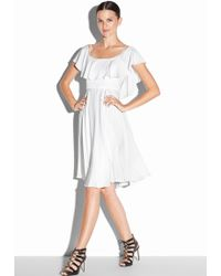 Milly Silk Stretch Crepe Emmaline Dress white - Lyst