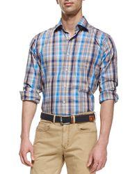 Peter Millar Multi-plaid Poplin Shirt - Lyst