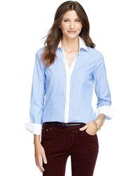 Brooks Brothers Petite Noniron Fitted Bold Stripe Dress Shirt - Lyst