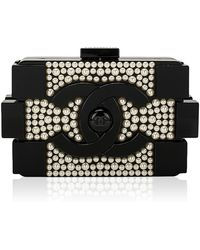 Madison Avenue Couture - Chanel Limited Edition Pearlized Black Lego Clutch Boy Bag - Lyst