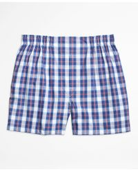 Brooks Brothers   Traditional Fit Large Split Check Boxers   Lyst