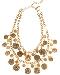 Oscar de la Renta Coin Necklace - Lyst