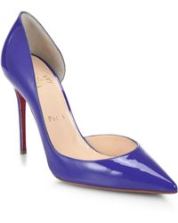 Christian Louboutin Iriza Patent Leather D'Orsay Pumps - Lyst