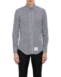 Thom Browne Shepherds Check Shirt - Lyst