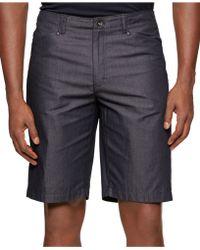 Calvin Klein Chambray Twill Shorts blue - Lyst