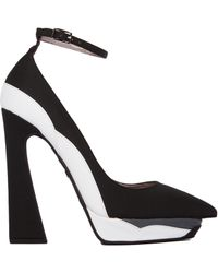 Jeffrey Campbell Power Cut Stacked Heel - Lyst
