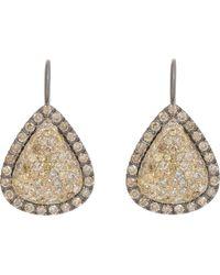 Roberto Marroni - Yellow Diamond, Brown Diamond & Oxidized Gold Teardrop - Lyst