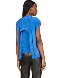 Silent - Damir Doma - Blue Layered Cut_out Talya Top - Lyst
