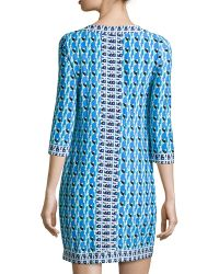 Muse - Geometric Print Shift Dress - Lyst