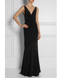 Narciso Rodriguez Cutout Silk-Crepe Gown - Lyst