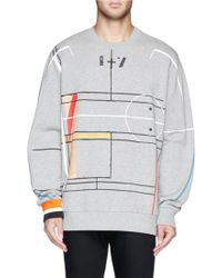 Givenchy Basketball Court Abstract Print Sweatshirt - Lyst