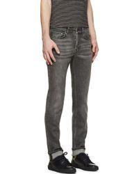 Acne Studios Faded Black Eighties Ace Jeans - Lyst