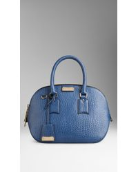 69409ff19753 Lyst - Burberry The Small Orchard In Signature Grain Leather in Blue