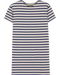 NLST - Striped Cotton-jersey Mini Dress - Lyst