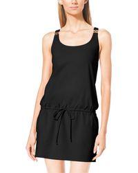 Michael Kors Racer-Back Jersey Dress - Lyst