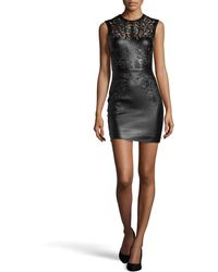 Catherine Deane Nadia Laser-cut Leather Dress - Lyst