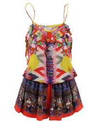 Camilla Shoestring Worry Doll Playsuit - Lyst