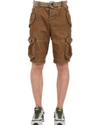 Superdry Cotton Cargo Shorts - Lyst