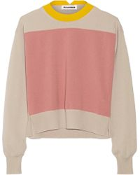 Jil Sander Color-Block Cashmere Sweater - Lyst