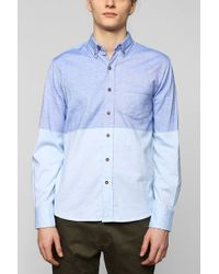 Vanishing Elephant Twotone Chambray Buttondown Shirt - Lyst
