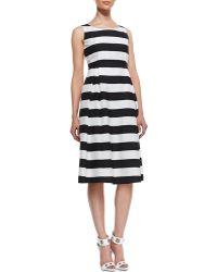 Lafayette 148 New York Macenna Silk Fullskirt Dress - Lyst