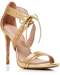 Pour La Victoire Open Toe Ghillie Lace Up Sandals - Shanna High Heel - Lyst