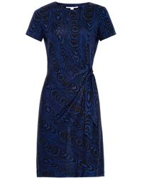Diane von Furstenberg Blue Zoe Dress - Lyst