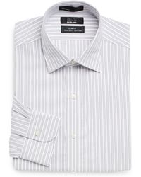 Saks Fifth Avenue Black Label - Slim-fit Striped Cotton Dress Shirt - Lyst