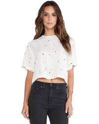 Rag & Bone White Crop Top - Lyst
