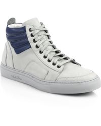 Del Toro Leather Boxing Sneakers - Lyst