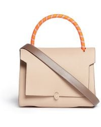 Anya Hindmarch Bathurst' Small Rope Handle Leather Satchel - Lyst
