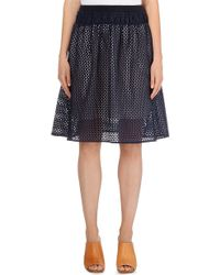 See By Chloé Gathered Lace Skirt - For Women blue - Lyst