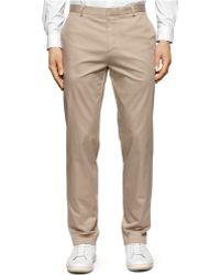 Calvin Klein Twill Slim-Fit Suit Pants beige - Lyst