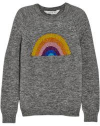 Lulu & Co - Rainbow Metallic Intarsia Knitted Sweater - Lyst