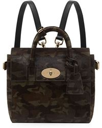 Mulberry - Mini Cara Delevingne Camouflage Haircalf Bag - Lyst