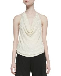 Haute Hippie Scarface Embellished Tie-back Top - Lyst