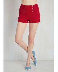 Ci Sono Cavalini/cavalini, Inc - Play Gulf Shorts In Red - Lyst