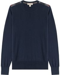 Burberry Brit - Cashmere-cotton Pullover - Blue - Lyst